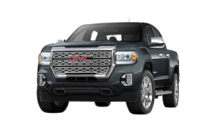 Front side view of 2021 GMC Canyon Denali